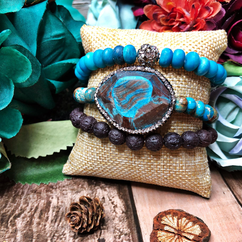 Desert oasis bangle set