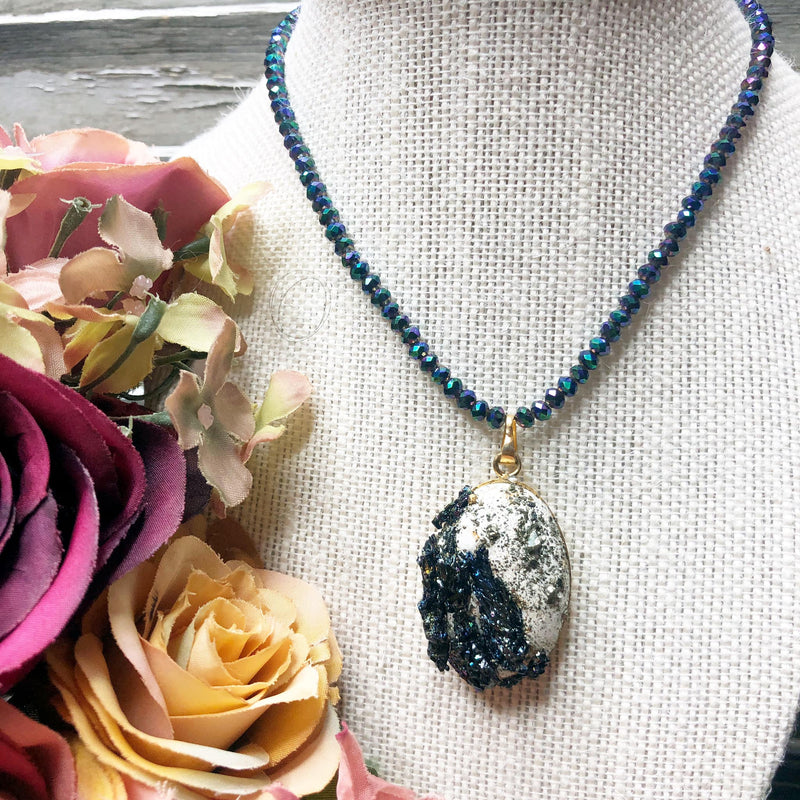 Rough druzy necklace
