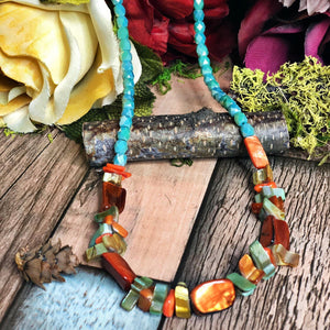 Beach days beaded necklace