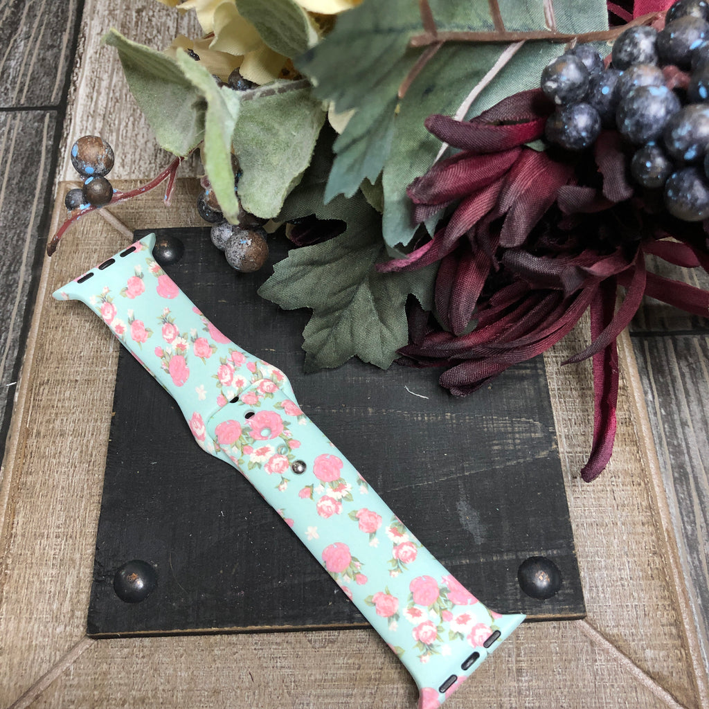 Apple watch Band - mint floral 42mm