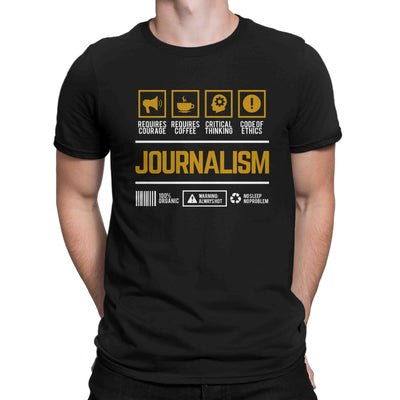 Course Shirt Journalism Men Women's T-shirt on sale Black White Tee Shirt