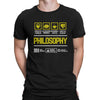 Course Shirt Philosophy Men Women's T-shirt on sale Black White Tee Shirt