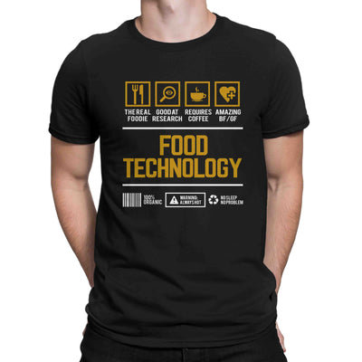 Course Shirt Food Technology Men Women's T-shirt on sale Black White Tee Shirt