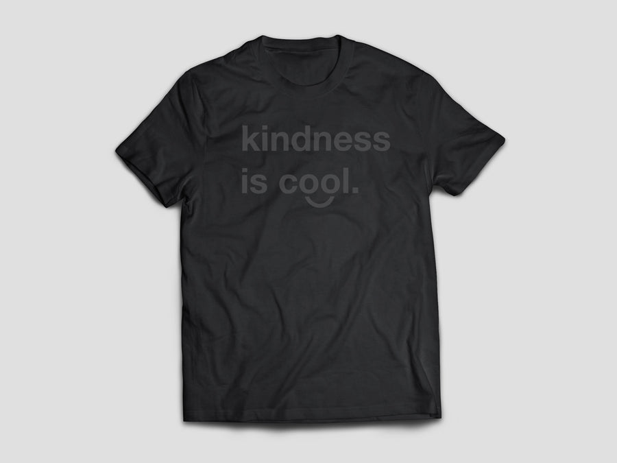 Kindness is Cool T-shirt (Black/Black)