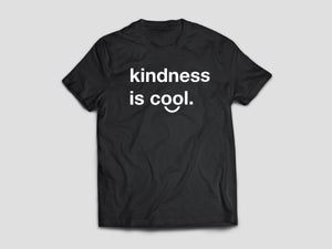 Kindness is Cool T-shirt (Black/White)