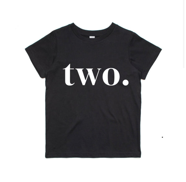 TWO. Birthday Tee (Black)