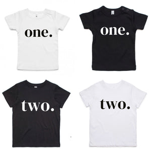 TWO. Birthday Tee (White)