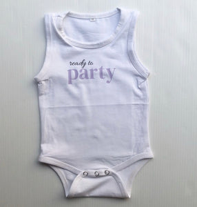 READY TO PARTY (lilac) Romper