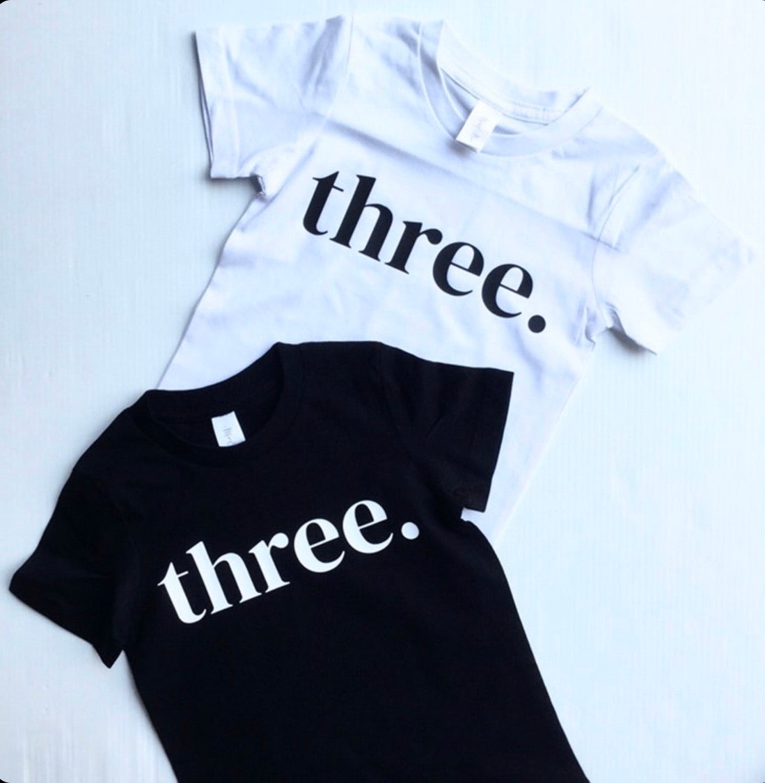 THREE. Birthday Tee (Black)