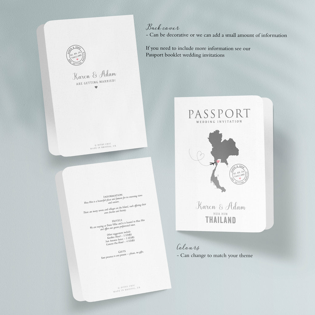 All About Travel Map Destination Wedding Passport - Ditsy Chic