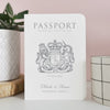 Around the Word Destination Wedding Passport - Ditsy Chic