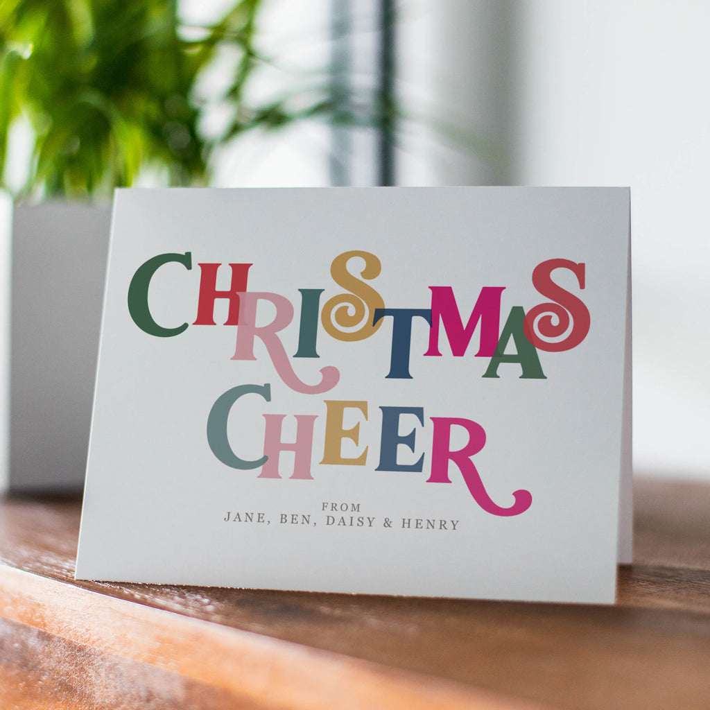 Personalised 'Christmas Cheer' Card Pack - Ditsy Chic