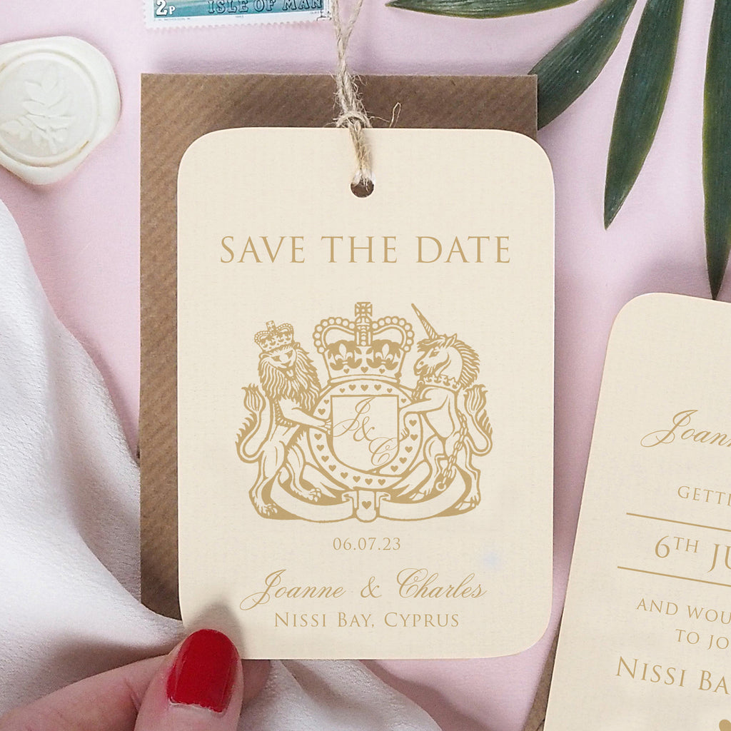 Passport Wedding Save The Date Travel Luggage Tag - Ditsy Chic