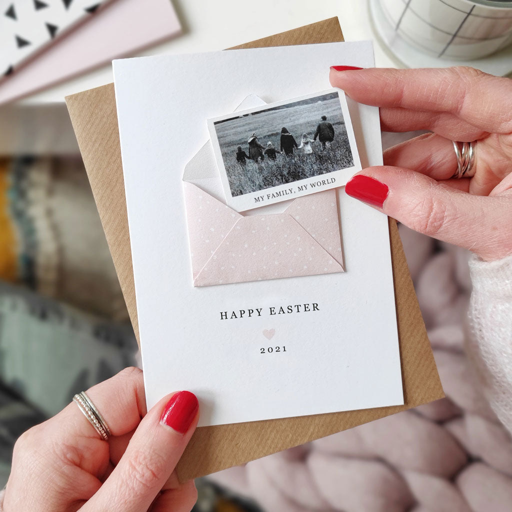 Personalised Easter Photo Keepsake Card - Ditsy Chic