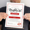 Personalised Santa's Naughty List Christmas Certificate - Ditsy Chic