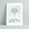 Personalised Children's Motivational Name and Date Balloon Print - Ditsy Chic
