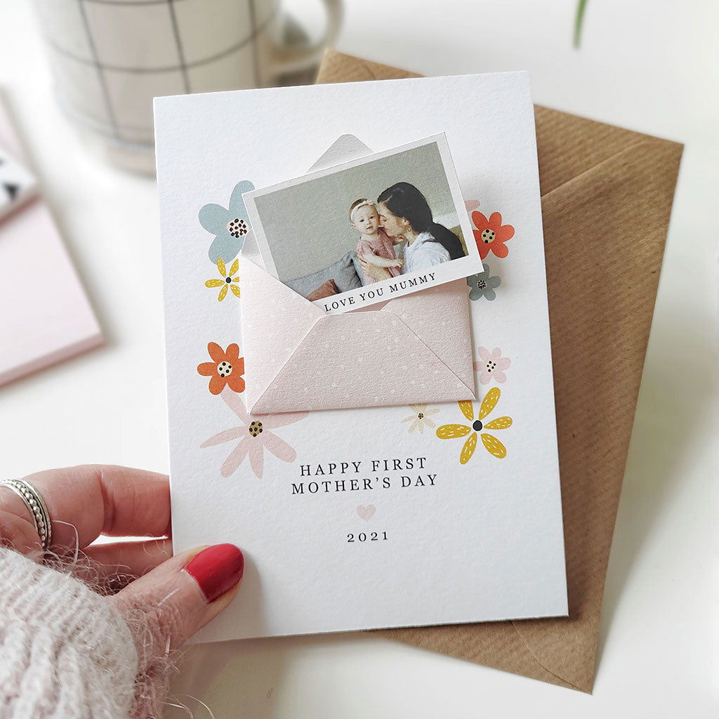 Mummy's First Mother's Day Keepsake Photo Card - Ditsy Chic
