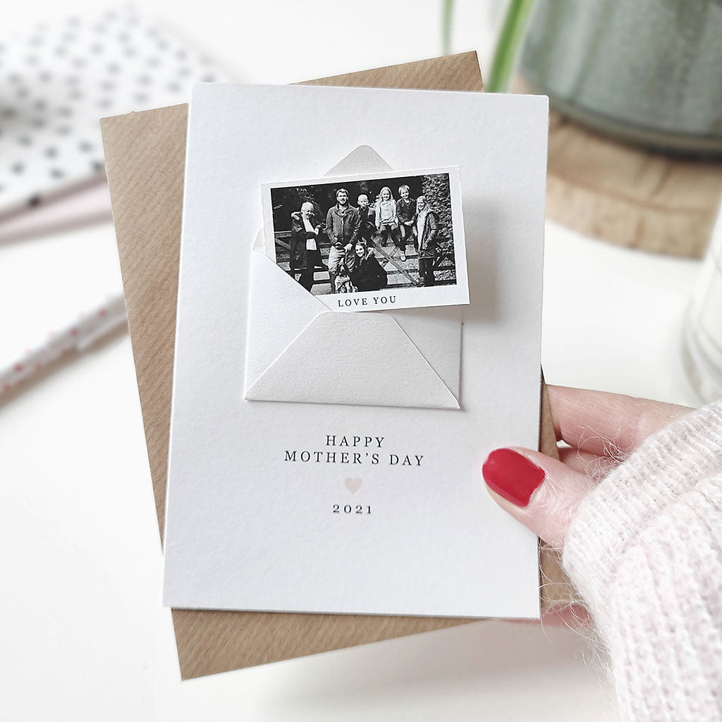 Personalised Happy Mother's Day Photo Card - Ditsy Chic