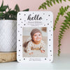 Hello Baby Personalised Baby Photo Announcement Card - Ditsy Chic