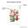 Personalised Rose Family Tree Print - Ditsy Chic