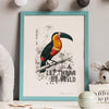 'Let Them Be Wild' Personalised Jungle Nursery Name & Date Print - Ditsy Chic