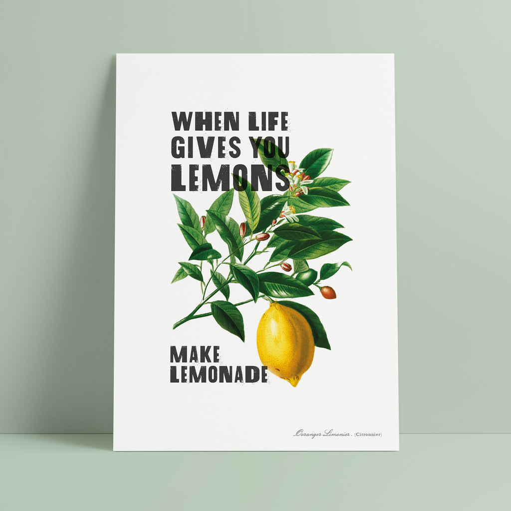 'When Life Gives You Lemons' Print - Ditsy Chic