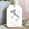 Location Wedding Abroad Save The Date Luggage Tag - Ditsy Chic