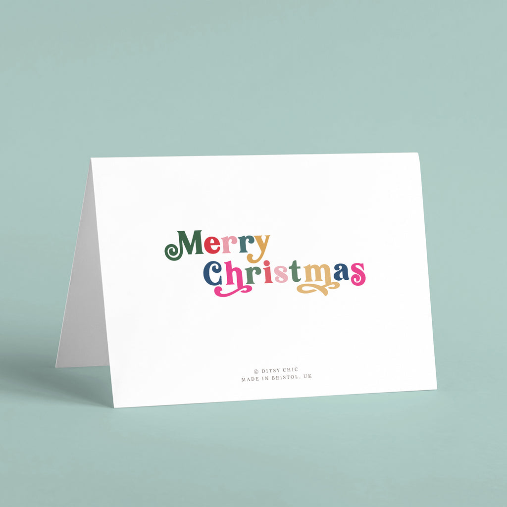 Merry Christmas Personalised Card Pack - Ditsy Chic