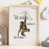 Be Silly, Be Honest, Be Kind Personalised Monkey Nursery Print - Ditsy Chic