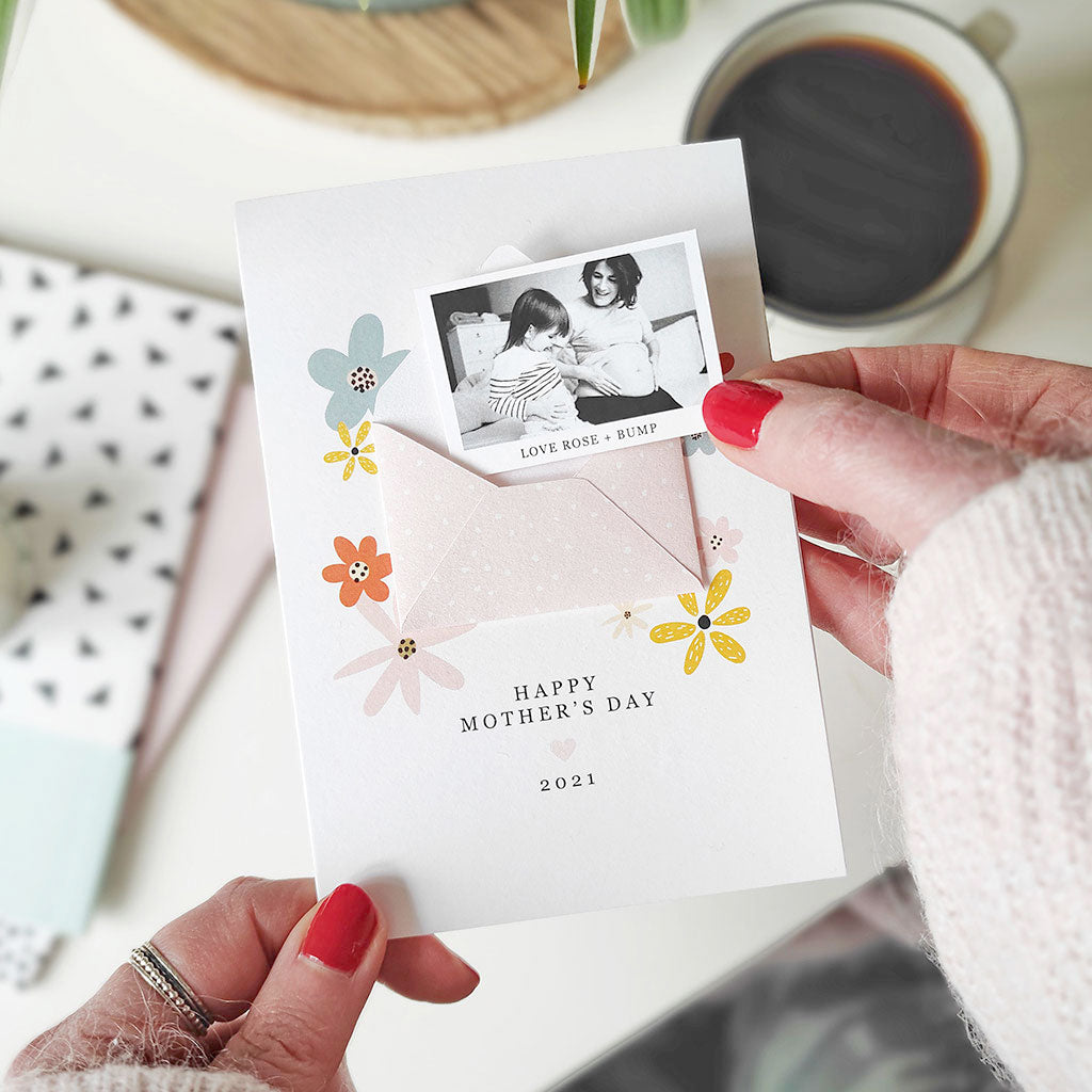 Mother's Day Photo Keepsake Card - Ditsy Chic