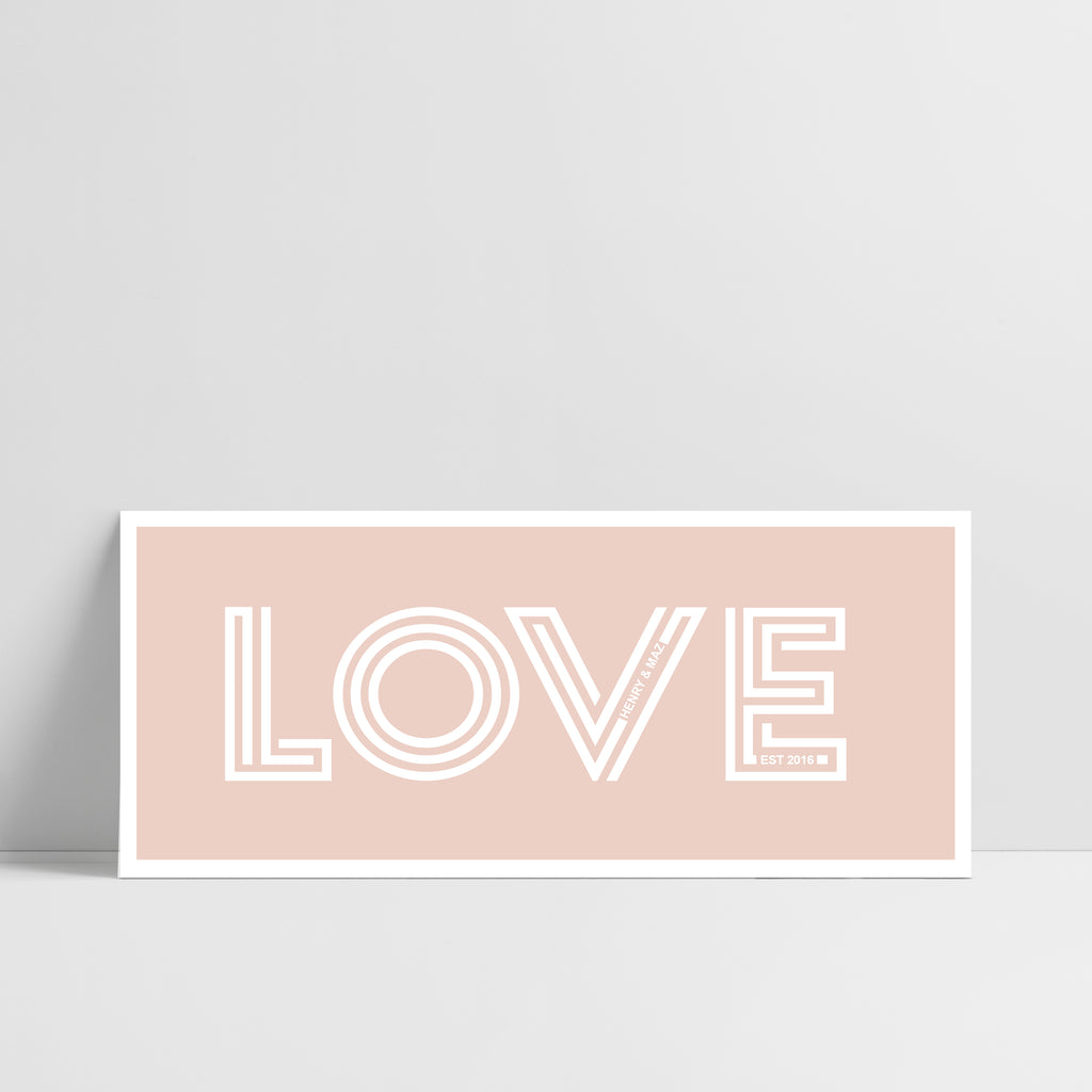One Word 'Love' Print with Personalised Secret Message - Ditsy Chic