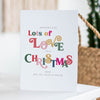 Personalised 'Sending Love' Christmas Card Pack - Ditsy Chic