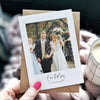 Personalised Wedding Photo Thank You Card - Ditsy Chic