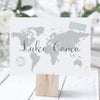 Personalised World Map Travel Table Name Cards - Ditsy Chic