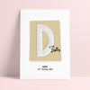 Personalised Retro Letter Name Print - Ditsy Chic