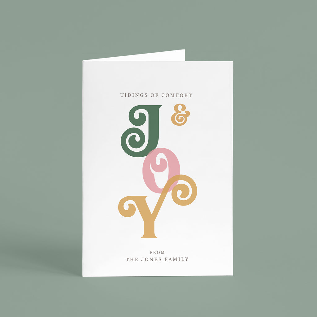 Personalised 'Comfort And Joy' Christmas Card Pack - Ditsy Chic