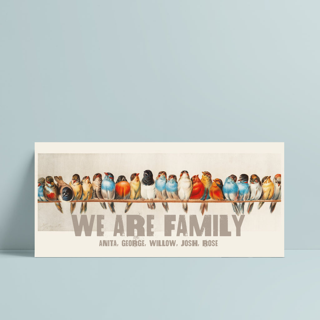 'We Are Family' Bird Family Tree Print - Ditsy Chic