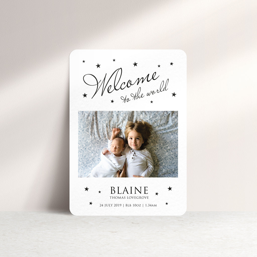 Welcome To The World Personalised Baby Thank You Card - Ditsy Chic