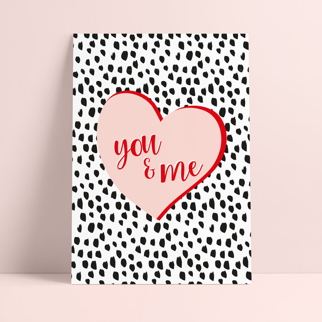 'You & Me' Love Heart Print - Ditsy Chic