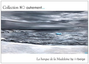 Collection NO autrement... Cartes postales, La barque de la Madeleine, Artbeige by Bénédicte Eigelthinger Brigeot