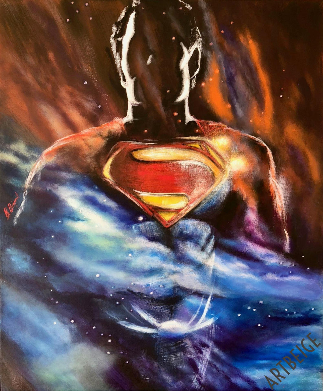 Superman, collection Super-Héros Artbeige by Bénédicte Eigelthinger Brigeot
