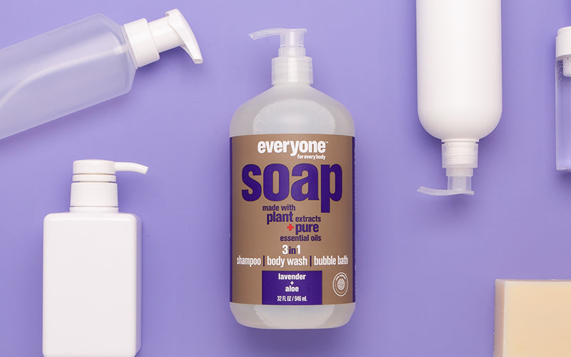 Everyone 3-in-1 Soap is multipurpose soap goodness. Safe, simple, and sensible.