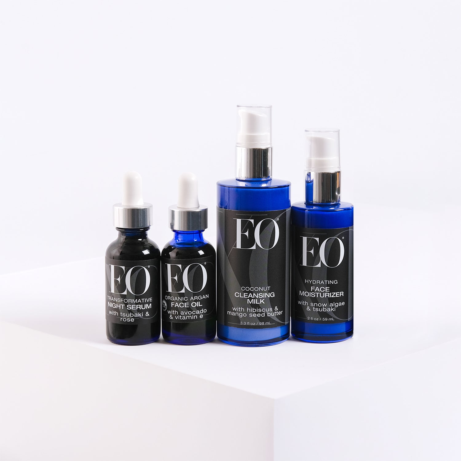 This set includes one bottle each of Organic Argan Face
