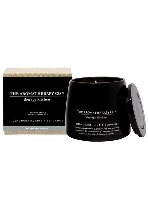 THE AROMATHERAPY CO -Therapy Kitchen, Lemongrass Lime & Bergamot, Candle - Makers On Mount