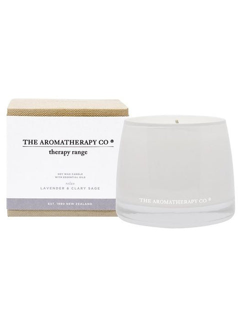 AROMATHERAPY CO - Candle, Lavender & Clary Sage, Relax - Makers On Mount