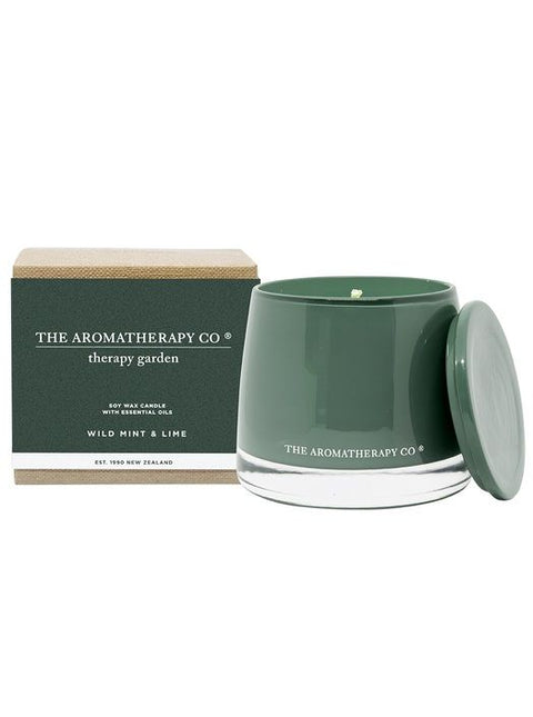 THE AROMATHERAPY CO - Therapy Garden, Candle, Wild Mint & Lime