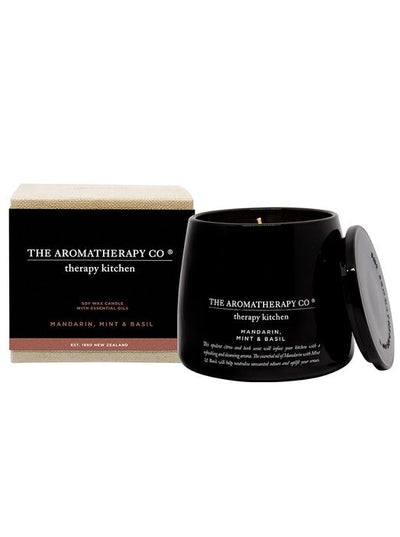 THE AROMATHERAPY CO -Therapy Kitchen, Mandarin Mint & Basil, Candle