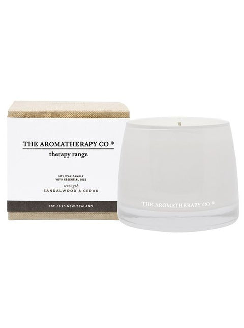 THE AROMATHERAPY CO - Therapy Range, Sandalwood & Cedar, Candle
