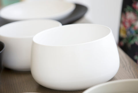 MINT HOME - Ceilia Large Salad Bowl, White