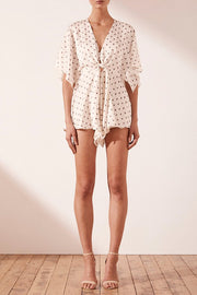 SHONA JOY - Luciana Tie Front Playsuit - Makers On Mount